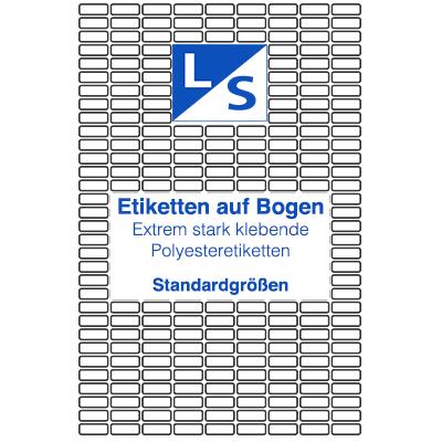 Extrem-stark-klebende-Polyesteretiketten-Standard-LSUK